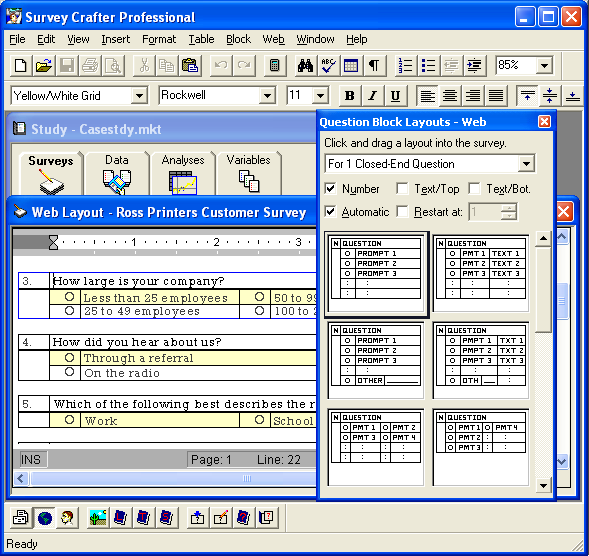 Survey Crafter Survey Crafter Professional Features And